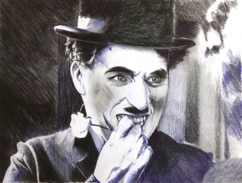 Charlie Chaplin par Colorfarma